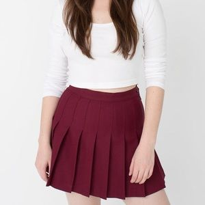 Authentic American Apparel Burgundy Tennis Skirt
